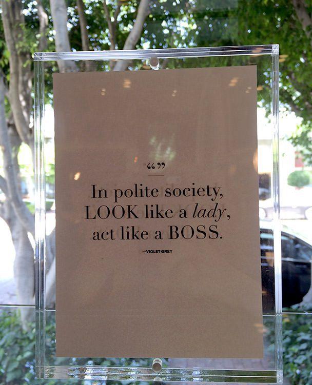 In polite society