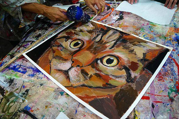 Cat at Art Works