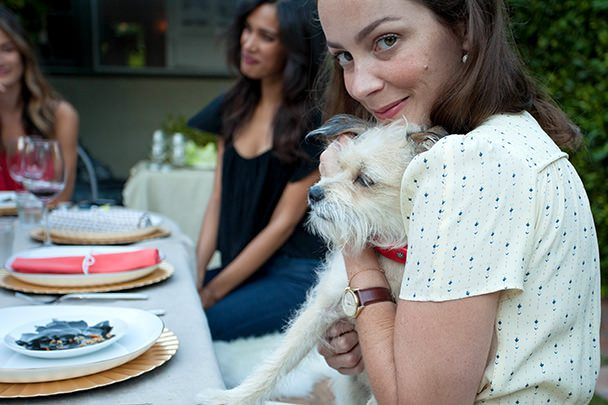 Kelly and puppy
