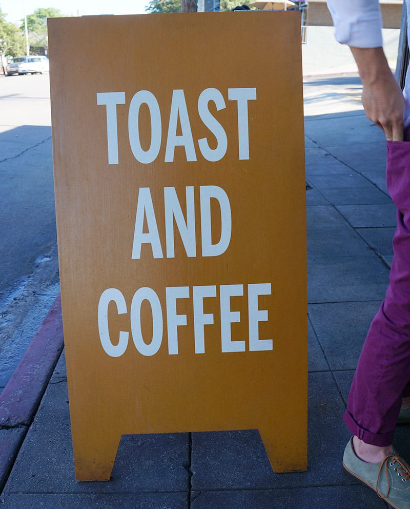 Toast and Coffee at Sqirl
