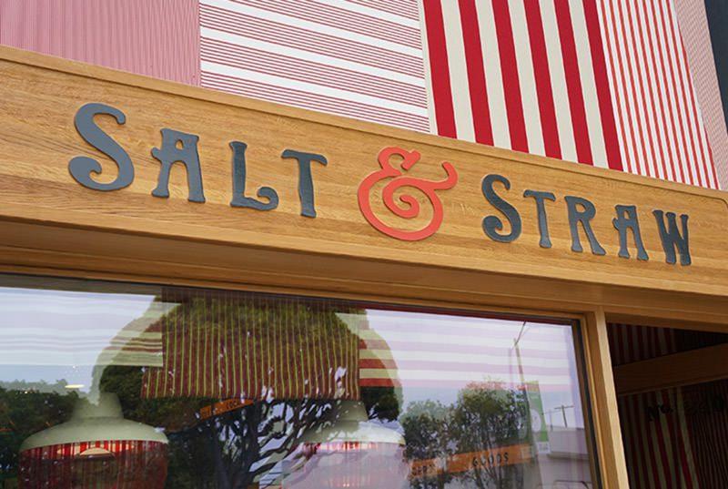 Salt & Straw, a gourmet ice cream shop on Larchmont Blvd in Los Angeles