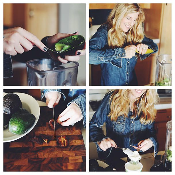 Step by Step Avocado Smoothie 1