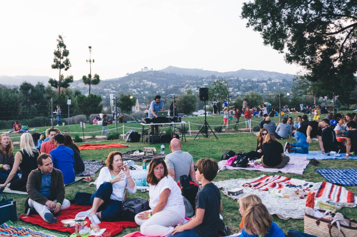 The best way to spend those LA nights is at the Barnsdall Art Park Wine Tasting.