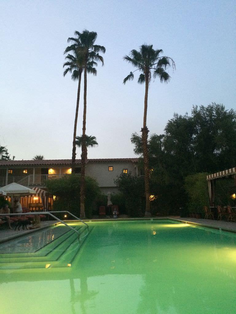 night time pool