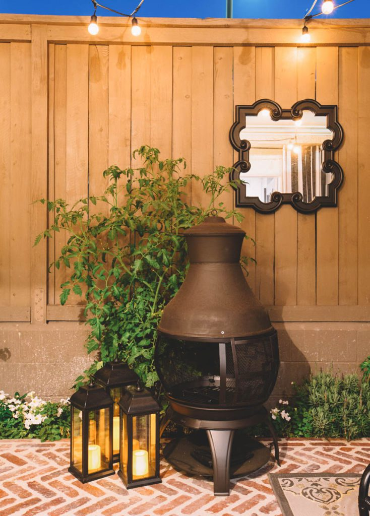 A patio makeover using Decorist, an online interior design service. All decor by Lowes Home Improvement.