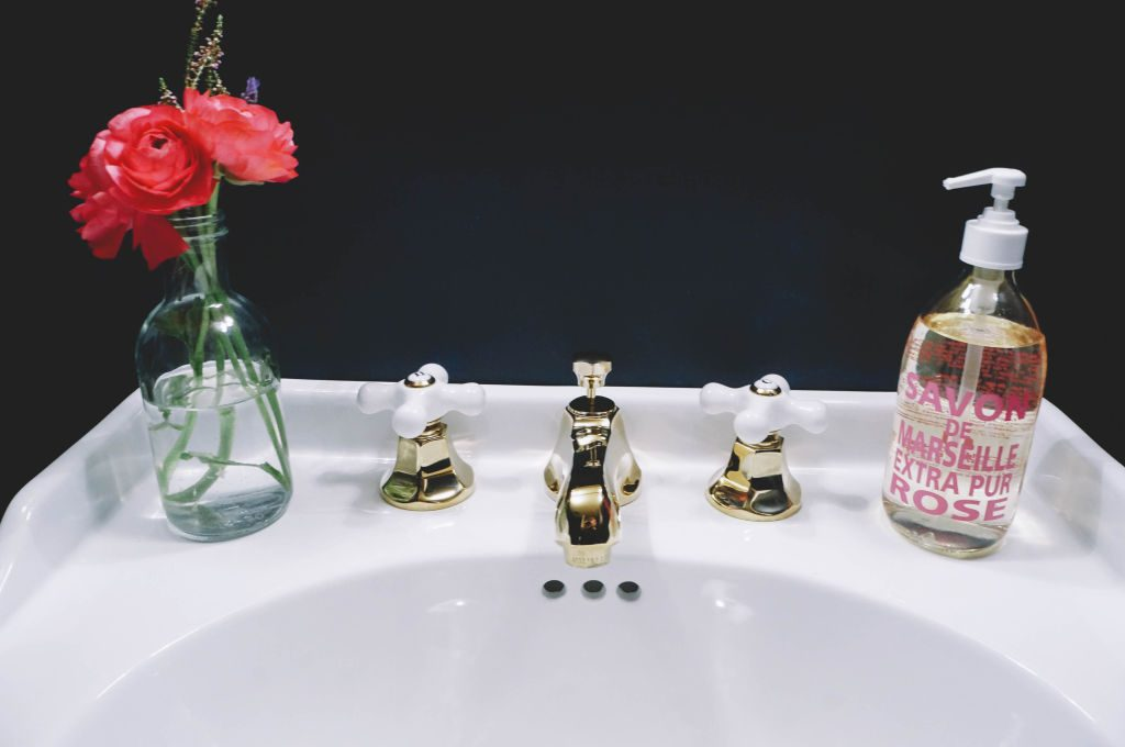 Sink and Flowers