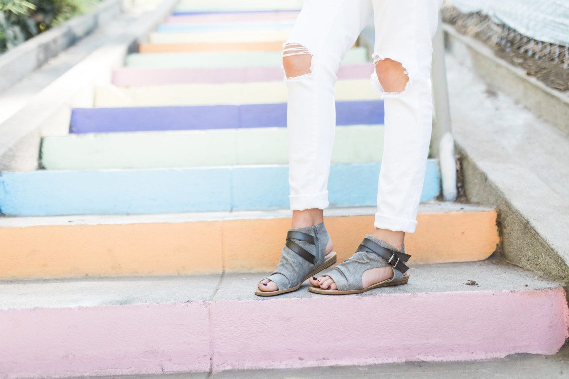 The most comfortable sandals for travel featuring linen and leather sandals under $40.