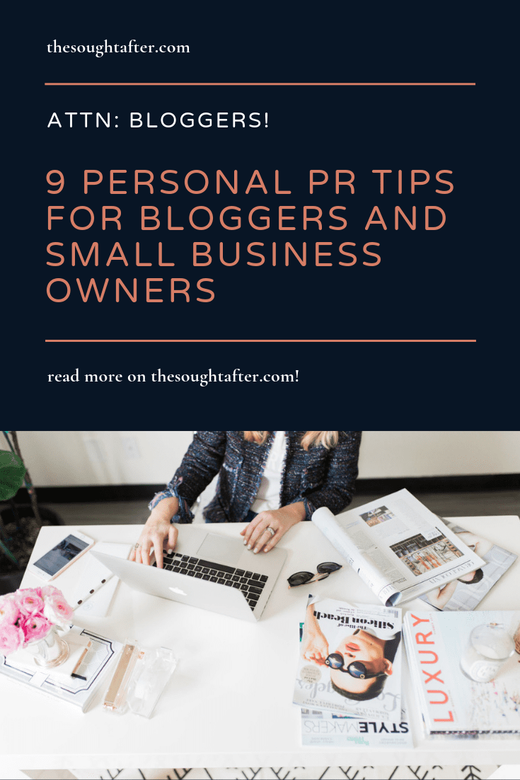 Looking for PR tips for bloggers? If you need personal publicity tips, you're in the right place. #prtips #publicityforbloggers