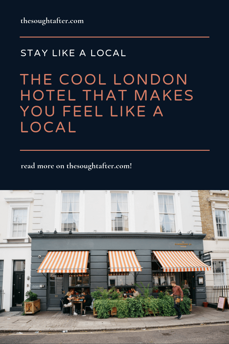 This cool London hotel will make you feel like a local! All the rooms are decorated by local artists - it's a great boutique London hotel for people looking for stylish lodging. #londontravel #londonhotels