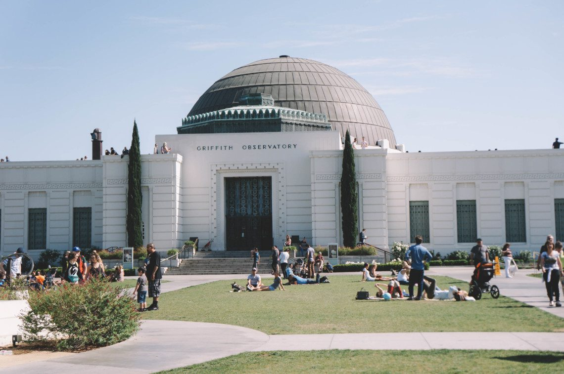 The Griffith Observatory is a must visit in Los Feliz, LA.